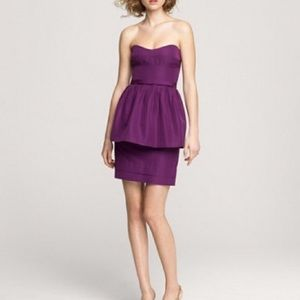 J. Crew silk peplum dress